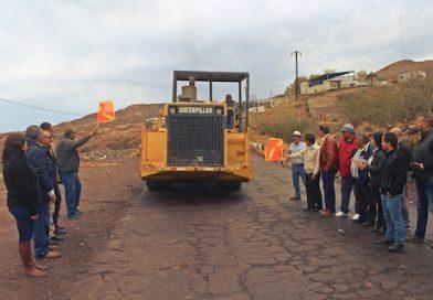 Alcalde pone en marcha la obra de recontrucción del acceso sur a Santa Rosalía