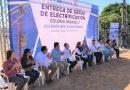 SE ENTREGAN OBRAS DE ELECTRIFICACIÓN EN VIZCAÍNO.